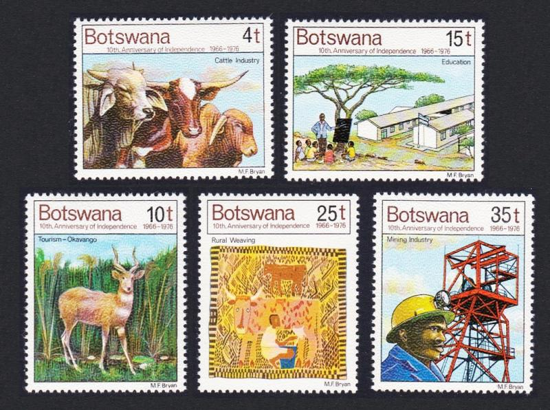 Botswana 10th Anniversary of Independence 5v SG#381/85 SC#169-73