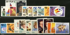 FIJI Sc#458-480 1982 Six Complete Sets & 2 SS Mint OG NH