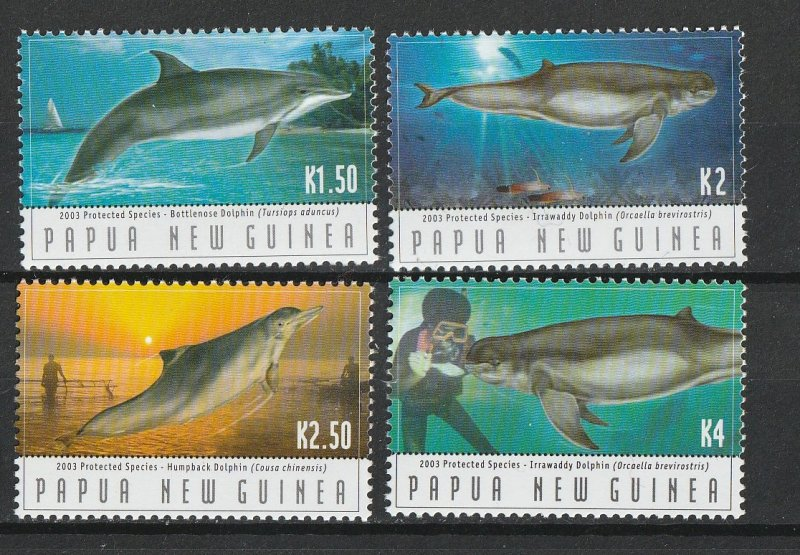 Papua New Guinea MNH 1094-7 Dolphins 2003