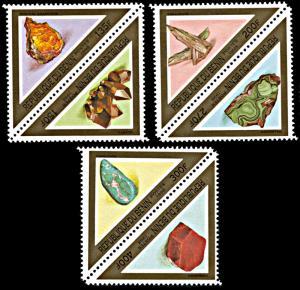 Benin 1069-1071, MNH, Minerals
