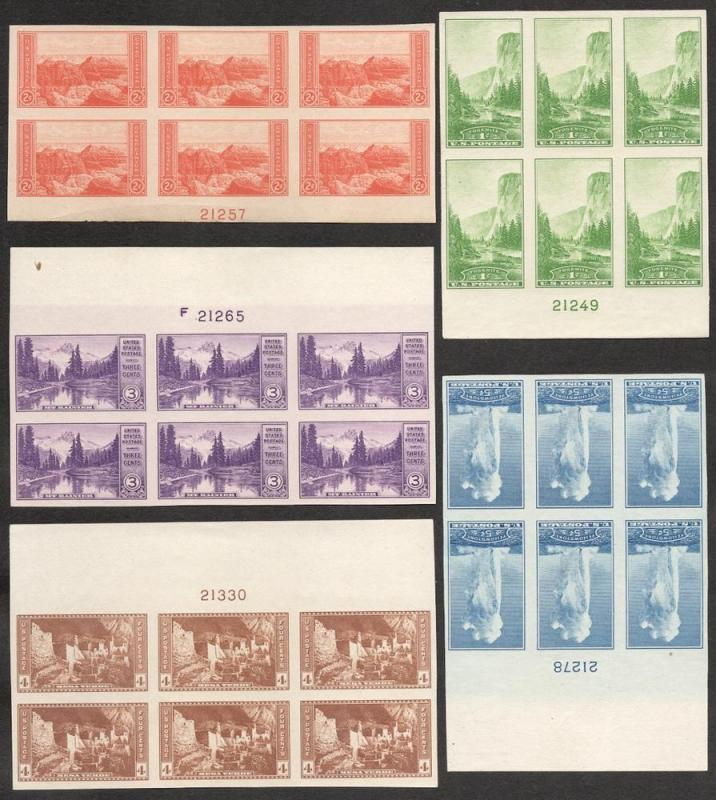 US#'s 756-765 Plate Blocks of 6 - Unused - Cat:$274.25