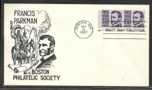 US #1281-15 Parkman Boston Philatelic cachet U/A