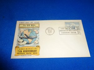 FLEUGEL MULTI COLORED CACHET FDC:  US SCOTT# C43