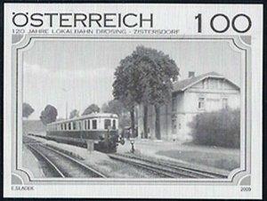 2009 Austria Railways, Local Railway Drösing-Zistersdorf Blackprint VF/MNH!