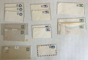 14-piece Canal Zone stamped envelope lot mint [y6556]