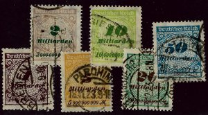 Germany SC#294-299 Used F-VF SCV$39.25...Worth a Close look!!