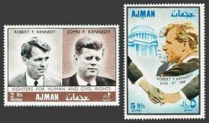Ajman MNH 299-300 John & Robert Kennedy