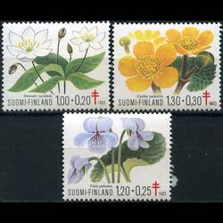 FINLAND 1983 - Scott# B230-2 Flora Set of 3 NH