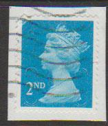 GB QE II Machin SG U2957 - 2nd brt blue -  M11L - Source  none