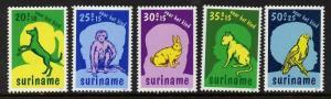 Surinam B241-5,B243a MNH Dog, Animals, Monkey