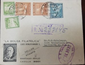 O) 1939 CHILE, U.S. CUSTOME, AIRPLANE, AIRPLANE OVER CITY, TWO AIRPLANES OVER GL