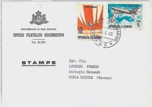 AVIATION : SAN MARINO - POSTAL HISTORY - 1965