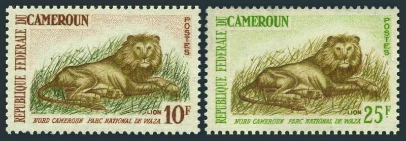 Cameroun 396-397,MNH.Michel 403-404. Lion,Waza National Park,1964.