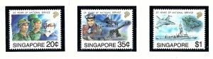 Singapore 631-33 MNH 1992 20th Anniv of National Service         (KA)