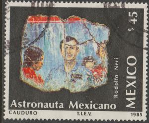 MEXICO 1422 Launch Morelos II Telecom Satellite Used F-VF (1223)