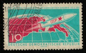 1961, Manned Space Travel, GAGARIN, DDR, 10 Pfg. (T-8462)