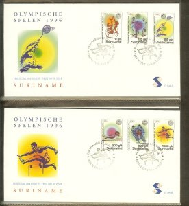 1996 - Rep. Surinam FDC E194AB - Sport - Olympics - Atlanta 96 [LN036]
