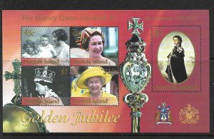 Norfolk Islands MNH S/S Golden Jubilee QE II 2002 SCV 6.50