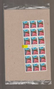U.S. Scott #3495a Flag - Mint NH Booklet - IN PACKAGE - Highlighted V1111 Plate