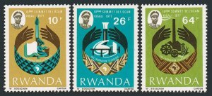 Rwanda 796-798,MNH.Mi 860-862. Summit Conference of the African & Malagasy,1977.