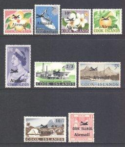 Cook Islands Scott C1/C9 - SG185/193, 1966 Airmail Set MH*