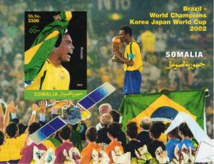 Somalia 2002 World Cup 2002 Brazil Champion/Ronaldo/Space S/S IMPERFORATED MNH