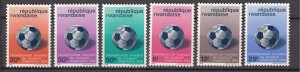 J27590 1966 rwanda set mh #176-81 sports