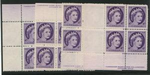 Canada - Mint 1954 4c Wilding - Plate 15 MS F+VF- NH