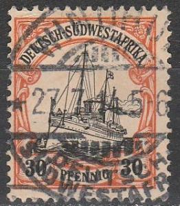 German South West Africa #30 F-VF  Used CV $52.50 (A14592)