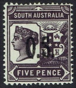 SOUTH AUSTRALIA 1891 QV OS 5D PERF 15
