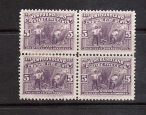Newfoundland #65 VF Mint Block