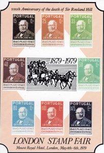 GB 1979 Exhibition Souvenir Sheet Rowland Hill London Stamp Fair MNH