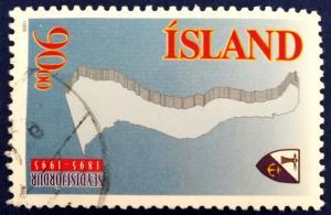 Iceland Town of Seydisfjordur Centennial Stamp Scott # 794 Used (I203)