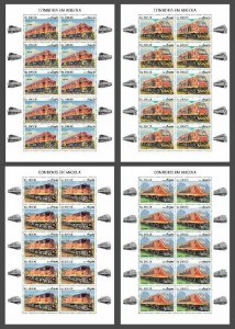 Z08 IMPERF ANG190206c Angola 2019 Trains MNH ** Postfrisch