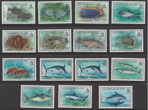 Ascension Island #516-30 MNH set, various fish, issued 1991