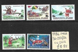 Christmas Island MNH 222-6 Christmas 1986 SCV 8.85