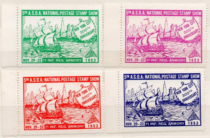 (I.B) US Cinderella : ASDA National Postage Stamp Show (New York 1953)