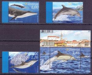 Slovenia. 2016. Whales fauna. MNH.
