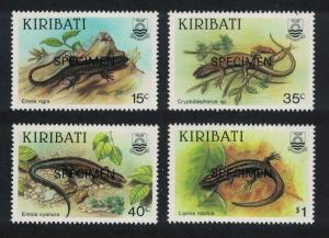 Kiribati Skinks 4v Specimen SG#274-277 SC#491-494