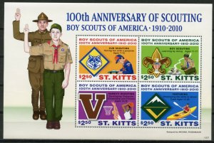 ST KITTS -  SCOUTING, 100TH ANNIVERSARY  2010 S467