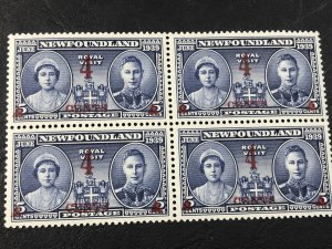NEW FOUNDLAND # 251-MINT NEVER/HINGED----BLOCK OF 4----1939