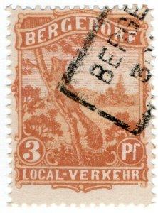 (I.B) Germany Local Post : Bergedorf 3pf (Squirrel)