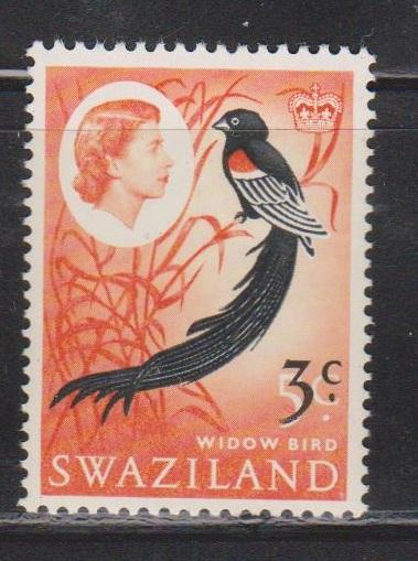 SWAZILAND Scott # 138 MNH - QEII & Widow Bird With Surcharge