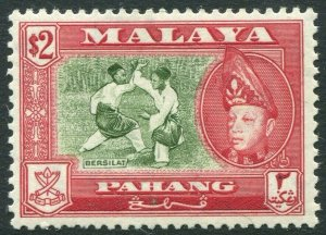 PAHANG-1962 $2 Bronze-Green & Scarlet Perf 13 x 12½ Sg 85a UNMOUNTED MINT V42830