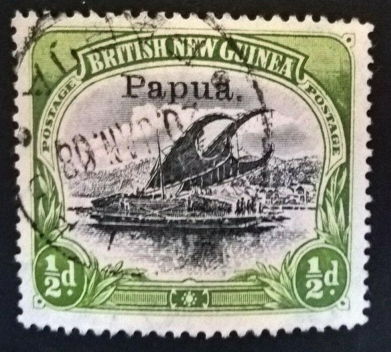 Papua Lakatoi 1907 ½d small overprint watermark vertical fresh used