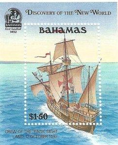 Bahamas 729   SS   Mint NH VF 1991 PD