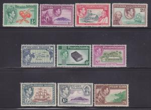 Pitcairn Is 1-8 VF-OG-LH set nice colors ! cv $ 63 ! see pic !