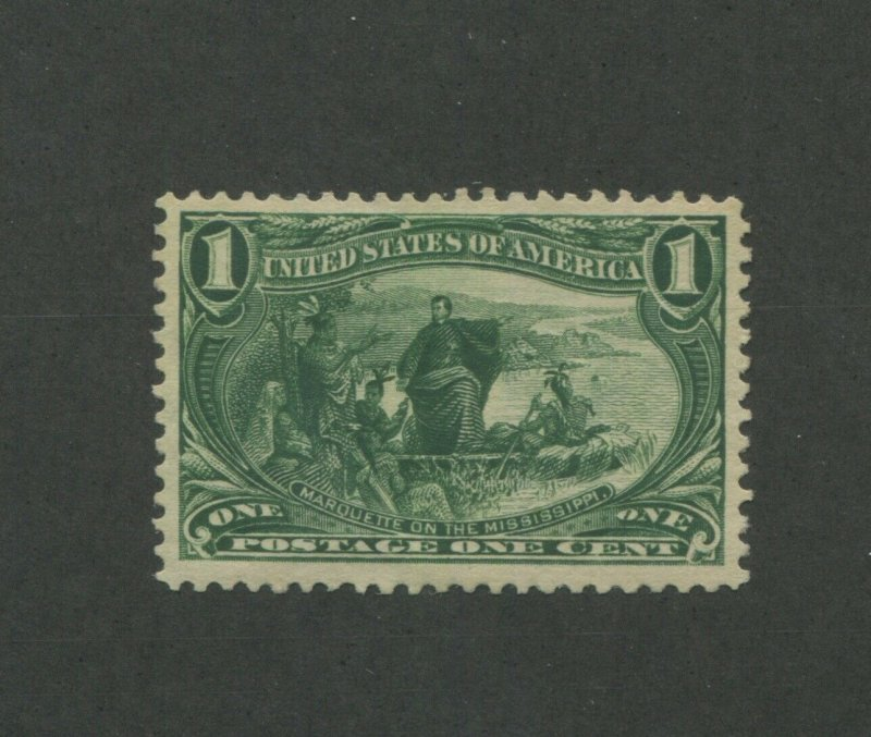 United States Postage Stamp #285 Mint Lightly Hinged VF Original Gum