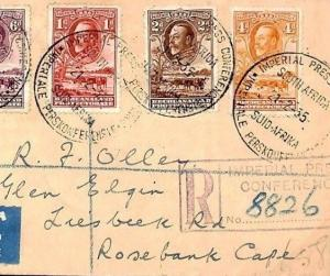 BECHUANALAND Cover 1935 *IMPERIAL PRESS CONFERENCE* Registered Air Mail W109b