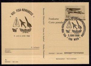Austria MI P433a Airplane Postal Card U/A FDC VF